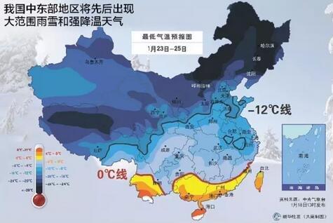 大范围寒潮席卷全国